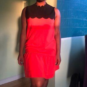 VICTORIA BECKHAM NEON ORANGE DRESS